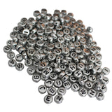1000pc Silver Alphabet Bead Set