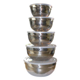 5 Piece Stainless Steel Nesting Mixing Bowl Set