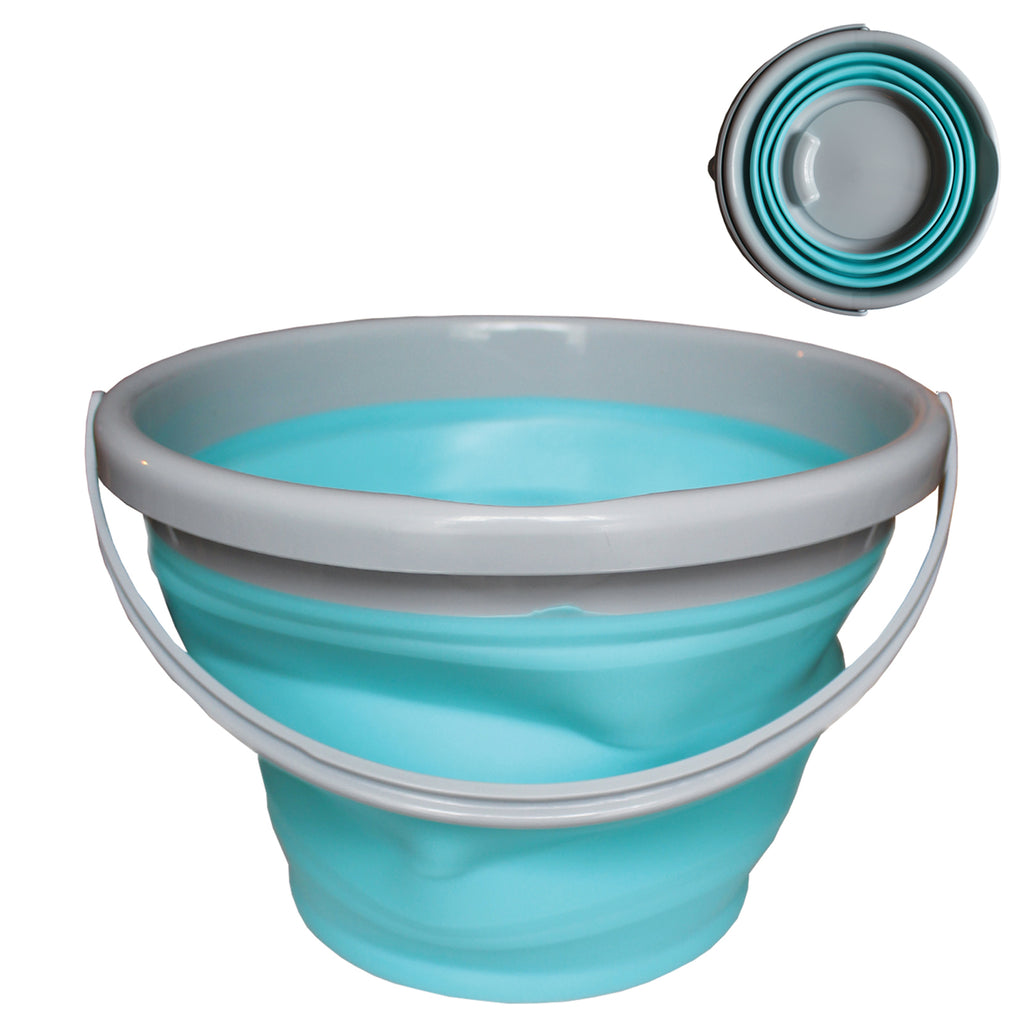 10 Litre Collapsible Silicone Bucket