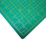 Belle Vous A4 Cutting Mat - Self Healing Non Slip Rotary Cutting Mat - Professional Cutting Mat - Craft Cutting Mat Metric/Imperial 22 x 30cm / 8.66 x 11.81 inches / Green / Silicone / Trimming Board