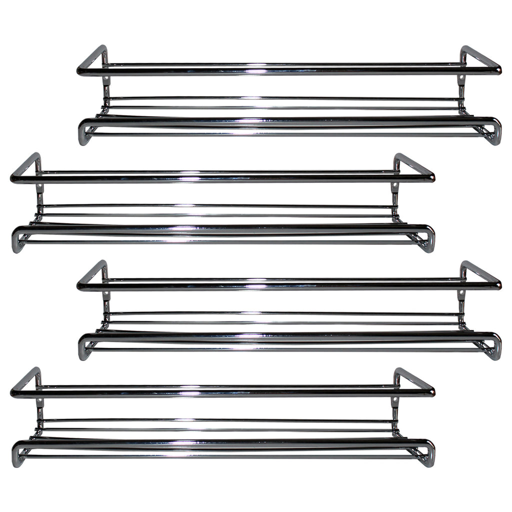 Image of: Belle Vous 4 Pack Chrome Wall Mount Spice Rack Organizer For Cabinet Tinyyo