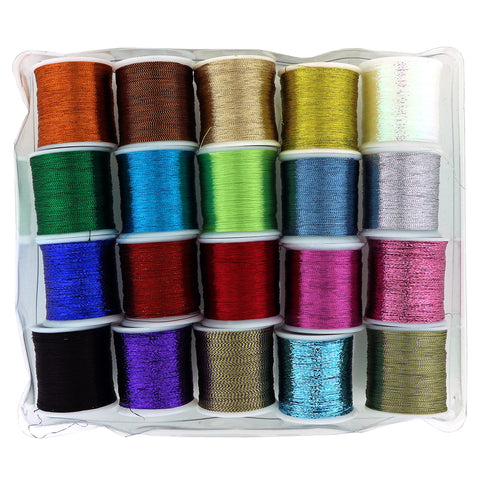 20 Pack Metallic Thread