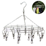 20 Peg Clip Clothes Hanger