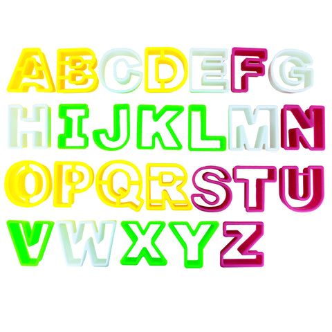 26 Piece Alphabet Cookie Cutters