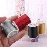 Sewing thread / Metallic thread -  8 Pcs Overlock Threads in an Assorted colors - Polyester  threads for Sewing Machine , embroidery ,Cross Stitch & more