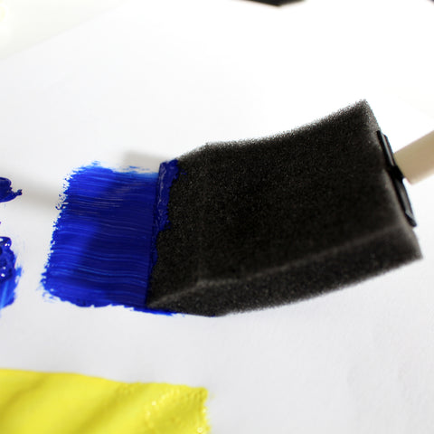Large and Small Foam Brush Arts and Crafts Set