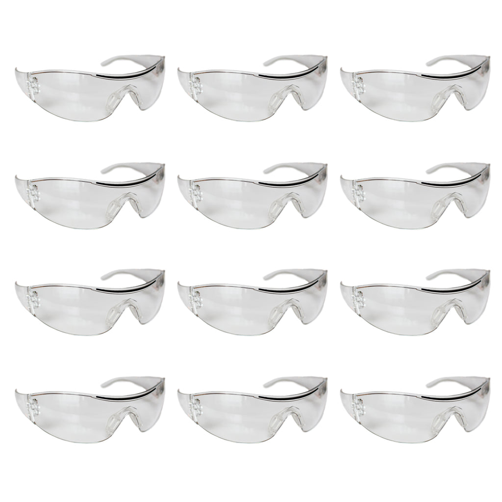 12 Pack Safety Goggles Set