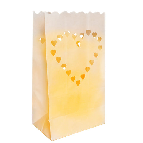 Heart Design White Paper Decorative Lanterns