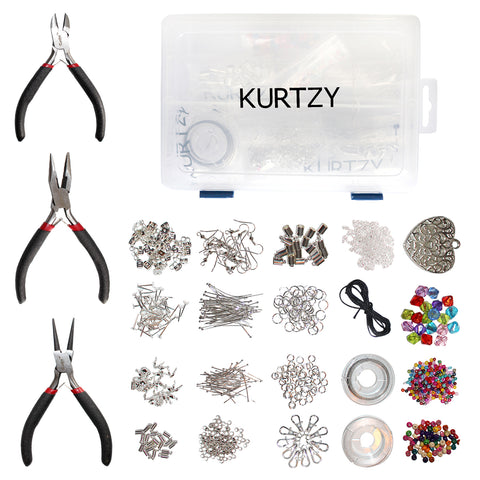1000 Piece Jewellery Making Kit with Case