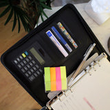 A5 PU Faux Black Leather Journal with Calculator