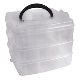 3 Tier Clear Plastic Storage Box