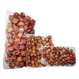 Kurtzy 300pcs Assorted Wooden Beads Jewellery Making Craft  Beads - Drum Wood Beads for Braid - 4mm Natural Bead Kit for Craft, Necklaces, Bracelets,Rosary and More- Painted Wooden Beads with Scissor Snips and Bundle of  Nylon Cord