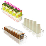 Kurtzy 2 Pack Fridge Storage Bins - Acrylic Clear Transparent Refrigerator Drawers Pantry Kitchen Containers Space Saving Freezer Organizer Vegetables Fruits 41cmx10cmx8cm Food Storage Box