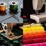 64-Piece Polyester Sewing Thread Spool Set