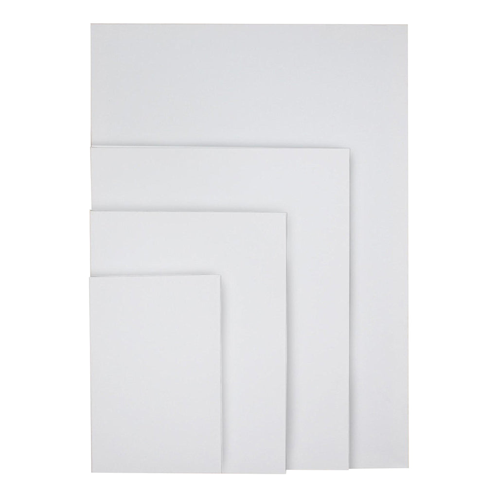 Kurtzy Canvas Board - 4 pcs Blank Canvas Set - Artist Canvas Frame - Pre-Stretched Canvas - Acrylic Painting Boards with Stretched Canvas for Artwork (70 x 49.5cm, 40 x 49.5cm, 30 x 40cm, 20 x 30cm)
