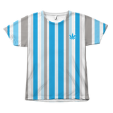 Vertical Striped Marijuana All Over Tees