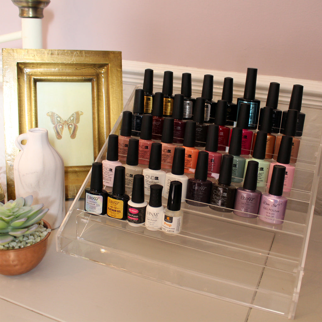 6 Tier Clear Nail Polish Stand