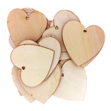 25 Pack of Wooden Heart Decorations