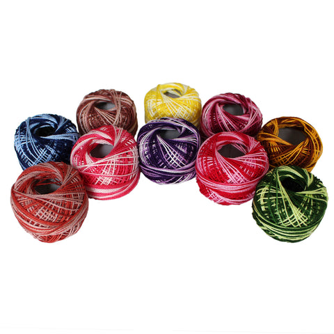 10 Pack of Stripy Thread