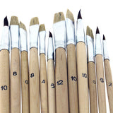 Wooden Palette with 12 Piece Brush Set