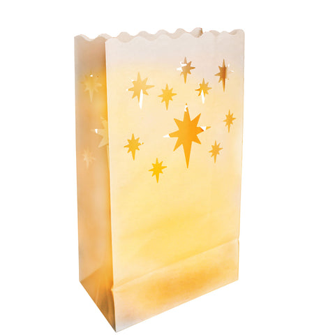 20 Pack Star Candle Bags