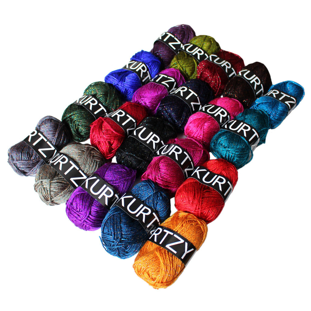 20 Piece Striped Knitting Crochet Yarn