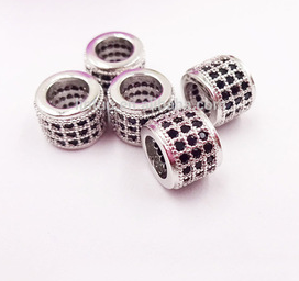 Diamonte Barrel Beads