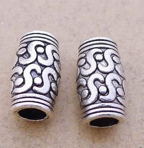 100 Pack of Silver Tibetan Beads