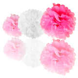 Paper Pompom and Circle Bunting Banner Party Decoration Set