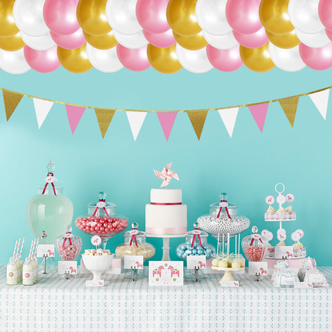 101 Piece Party Balloon and Banner Decorations Set
