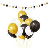 Party Balloons and Circle Bunting Banner Decorations