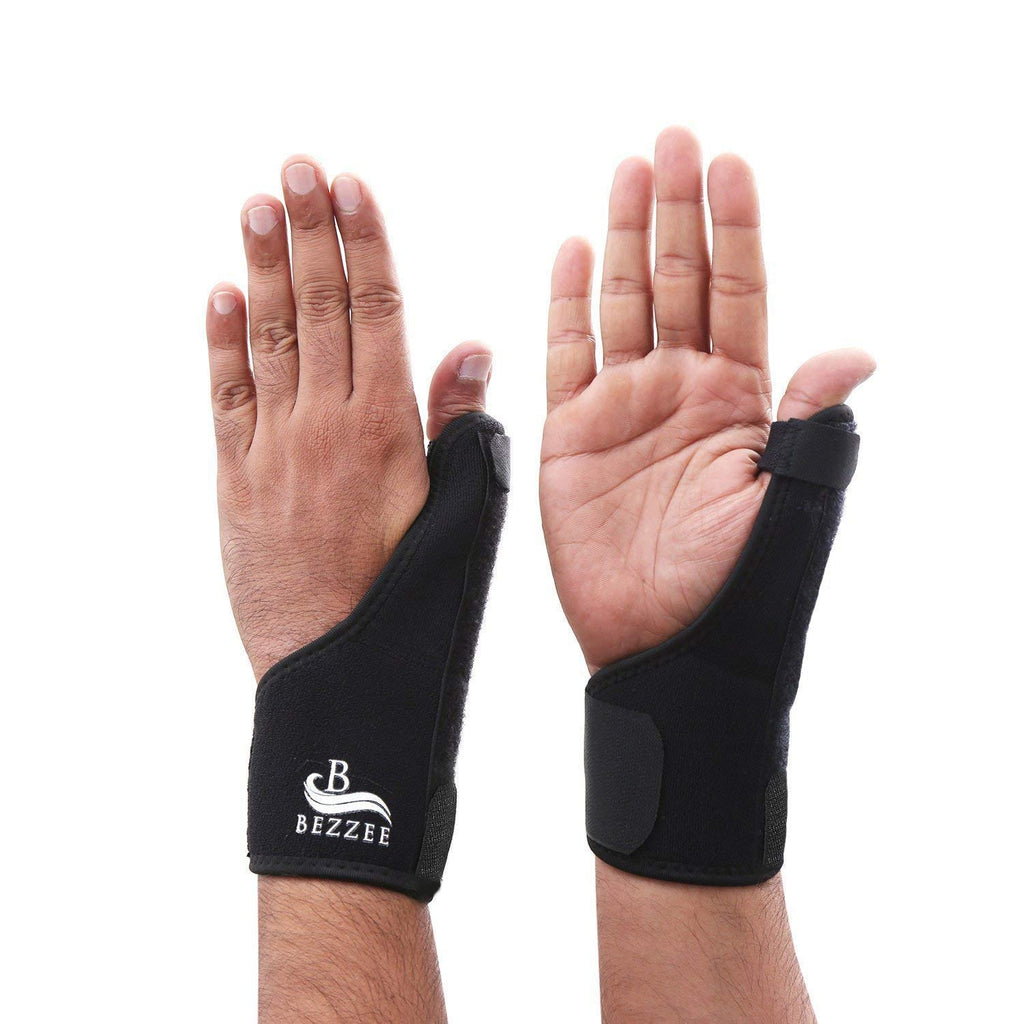 Thumb Wrist Support Brace Splint - 2 Pack Reusable Thumb Stabilizer for Both Left and Right Hand Trigger Thumb Relieve Thumb Sprain, Injuries During Play or at Work
