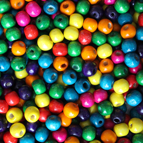 1000 Pack of Wooden Beads