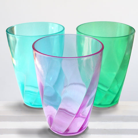 9pc Plastic Crystal Style Cup Tumbler