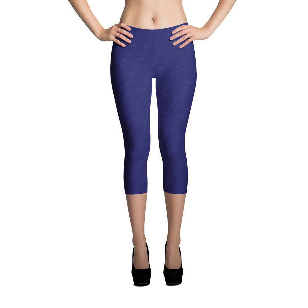 Navy Capri Leggings