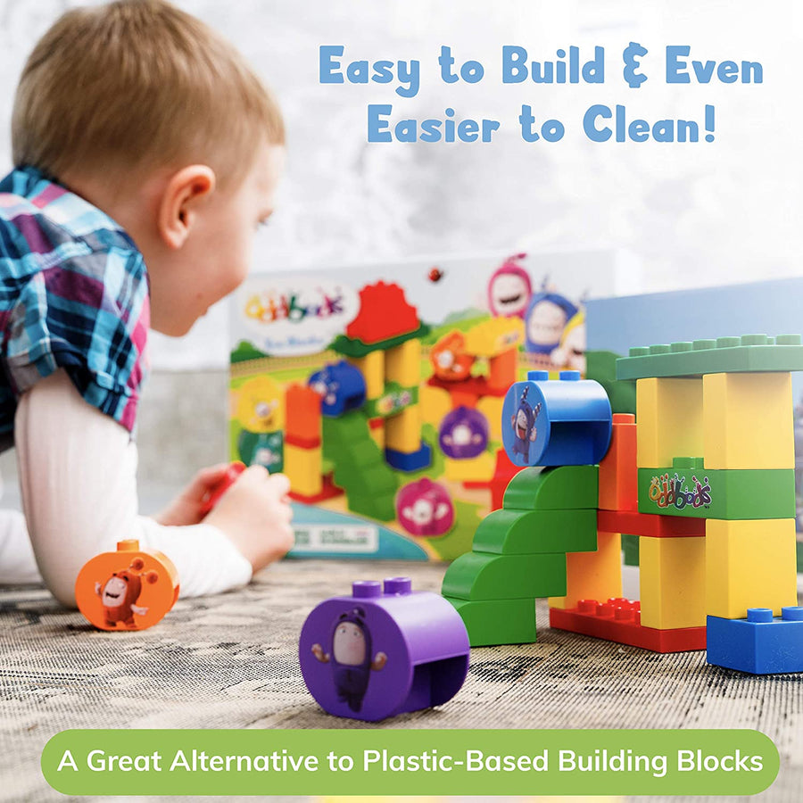 Oddbods Eco Blocks, Plant-Based Building Block Toys