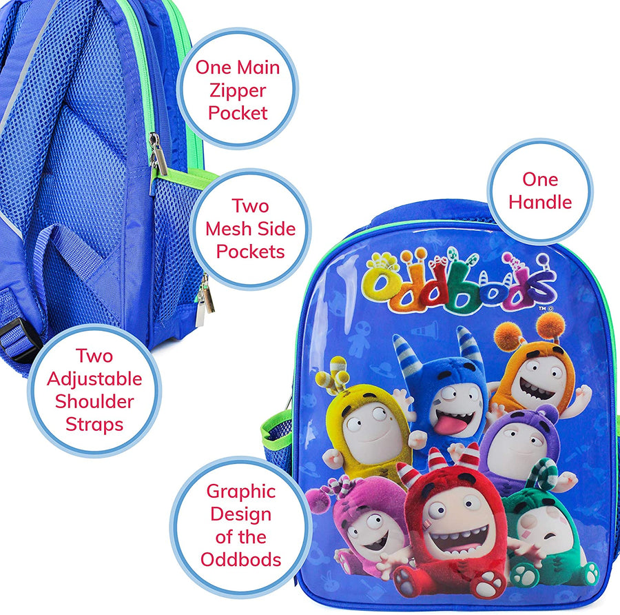 Oddbods Blue School Backpack
