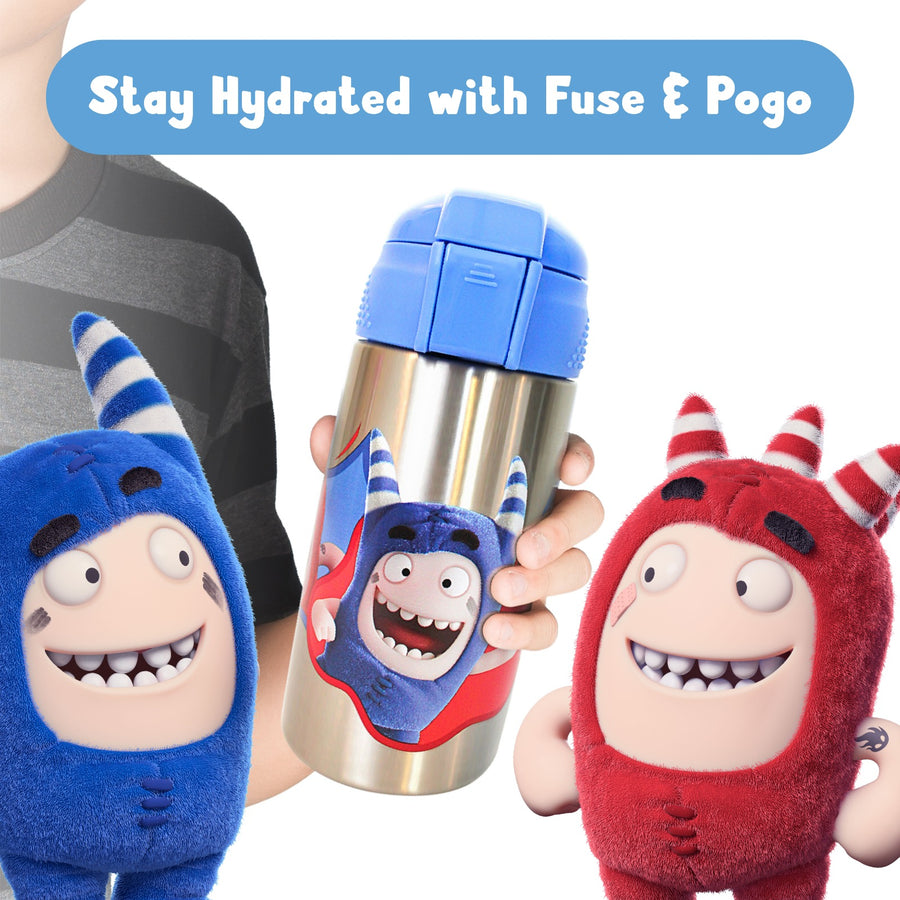 Oddbods Stainless Steel Water Bottle - Blue