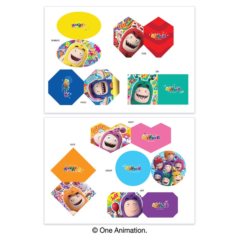 Oddbods 8 Cup Cake Tags (Digital Files)