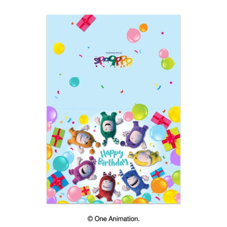 Oddbods Printable Greeting Cards (DIY Message and Happy Birthday) (Digital Files)