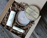 Gift Set: Candle Tin, Perfume, Lip Balm