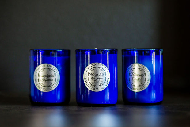 Trio of Serenity Collection [Limited Edition] Cobalt Blue Soy Candles