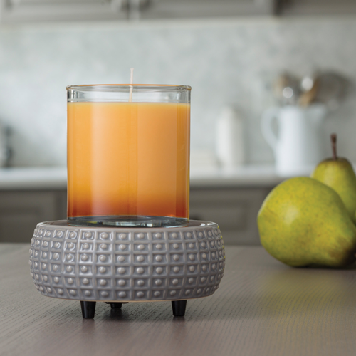 Gray Patterned 2-in-1 Classic Fragrance Warmer