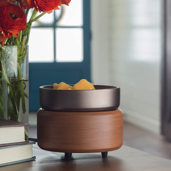 Pewter Walnut 2-in-1 Classic Fragrance Warmer - 15% OFF MOVING SALE