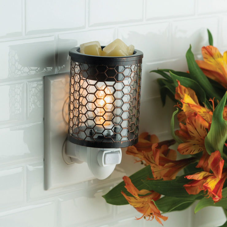 Chicken Wire Glass Pluggable Wax Warmer