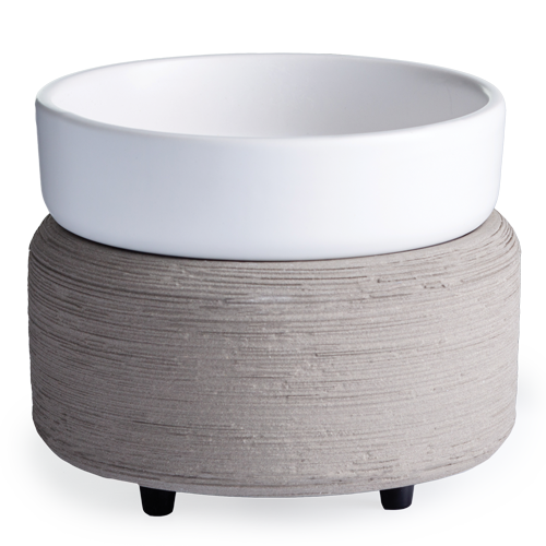 Gray Concrete & White 2-in-1 Classic Wax Warmer
