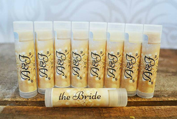Custom Organic Lip Balm Favors