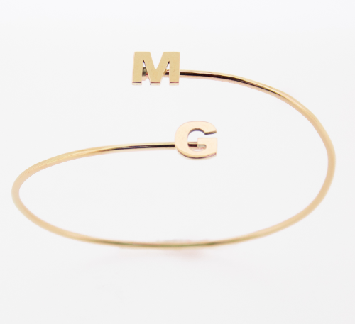Spang armband letters