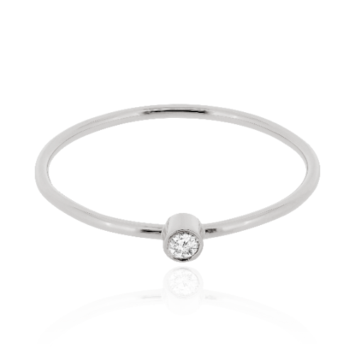 Solitair Ring met Diamant