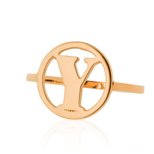 Letter ring rond